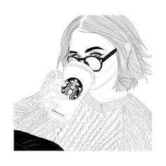 We Heart It found on Polyvore featuring polyvore, fillers, doodle, draw, outline and scribble