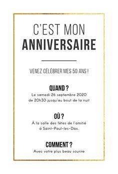 #60ans #anniversaire #retraite #invitationanniversaire 2 en 1 | ♕ Anniversaire 60 ans ...