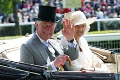 Prince Charles, the Prince of Wales and Duchess of Cornwall Camilla arrive for the second day of the Royal Ascot horse racing festival at Ascot, southern England