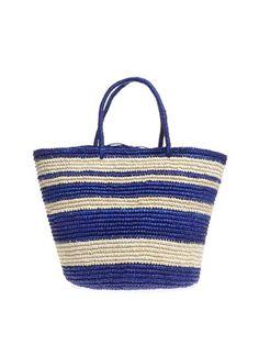 Stripe woven straw tote | Sensi Studio | MATCHESFASHION.COM