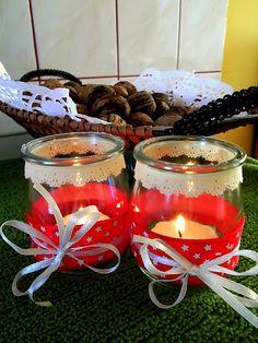 Gwiazdki z kordonka i świeczniki ze słoiczków. Przedświąteczne przygotowania…