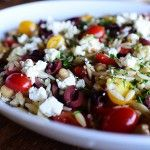 Mediterranean Orzo Salad...would make with quinoa, lentils, or farro instead of orzo