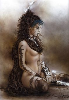 "gothic-and-fantasy: ""Artwork by Luis Royo """