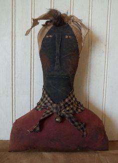 Primitive Grungy Mammy Shelf Sitter Doll #NaivePrimitive