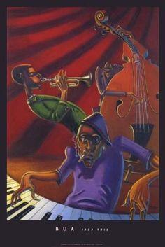 Jazz Trio Justin Bua Art Print