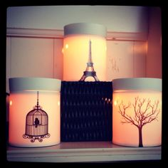 """Beautiful glowing Deluxe Scentsy warmers!!  """"Paris"""", """"Finch"""", and """"Tilia""""!   www.marykae.scentsy.us"""