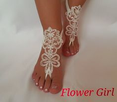 Hey, I found this really awesome Etsy listing at https://www.etsy.com/listing/250189081/flower-girl-anklet-embrodeired-beach