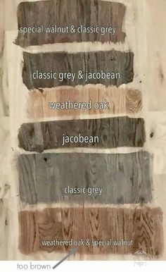 Minwax Stain for Red Oak Floors weathered oak and special walnut Minwax Stain Colors, Minwax Wood Stain, Walnut Stain, Miniwax Stain, Cabinet Stain Colors, Red Oak Stain, Refinishing Hardwood Floors, Whitewash Wood, Walnut Wood