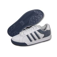 ADIDAS Men Polson ST in White/Grey. Style: G48690. These are on sale now - don't miss out!