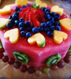 Fun Fruit Cake! I would not mind this for my birthday!