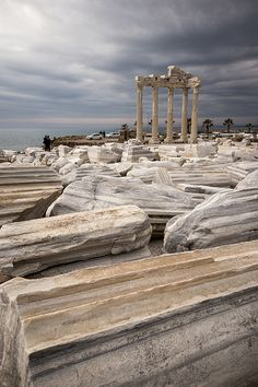 athena temple, antalya province, turkey | travel destinations in eurasia + ruins #wanderlust