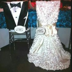 Wedding Chair Covers For Bride And Groom Colorful Chairs Living Room 18 Best Bridal Shower Images Decorated Table Linens Diy Dresses