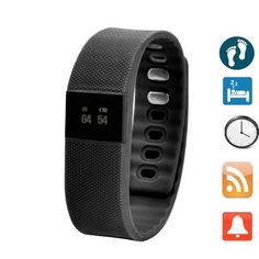 Smart Bracelet Fitness Activity Tracker Smartband Wristband X64 Waterproof Bluetooth 4.0 Intelligent Bracelet for iOS and Android- Black ** You can find out more details at the link of the image.