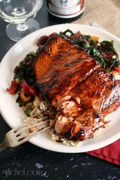 girlichef: Salmon-Honey Teriyaki {#SundaySupper w/ @SteamyKitchen}