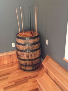 half barrel pool stick holder - Google Search