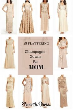 28 Champagne Gowns for Mother of the Bride - Eleventh Dress | Mother of the Bride Dresses