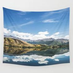 Mountain Lake Landscape Wall Tapestry