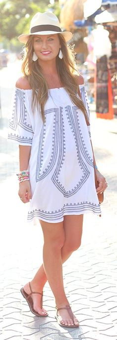 Embroidered Dress Summer Style by For All Things Lovely
