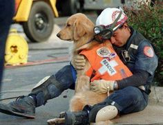 """""""@Renzo_Soprano: A fire-fighter hugs his partner ....such heroes deserve recognition. """""""