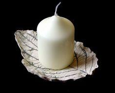 Green ceramic leaf  by LitSmithCeramics, £24.00 (Free UK shipping).