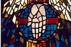 Divisions in the glass created either by grout or lead- holds the glass together.  Hand is faceted or broken up to create detail and interest.