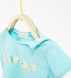 Text T-shirt-TOPS-MINI | 0-12 months-KIDS | ZARA United States
