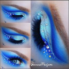 Obsessed with Makeup By Hanna Majava 's beautiful Frozen-inspired look using Sugarpill Velocity, Royal Sugar, Tako and Lumi eyeshadows! So magical! http://instagram.com/p/qPGwHqRRPx/