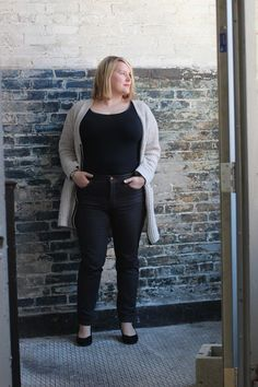 Cashmerette: Plus Size Sewing: Ginger Jeans, Redux: super-skinny edition! Plus Size Sewing Patterns, Clothing Patterns, Diy Clothing, Dress Patterns, Patterned Jeans, Full Figured Women, Curvy Girl Fashion, Plus Size Fashion For Women, Skinny Pants