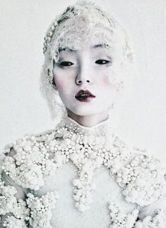 Xiao Wen Ju wearing Givenchy Haute Couture FW2011 by Tim Walker for W Mag. via waitingforteaagain tumblr
