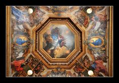 Interior ceiling art at Vaux-le-Vicomte.