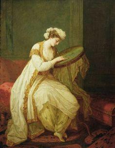 *Maria Anna Angelica Katharina Kauffman (Swiss-Austrian Neoclassical artist, 1741-1807) Lady in Turkish dress,c. 1780*