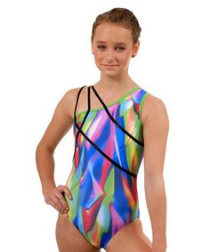 No new step or stretch is out of reach with this eye-catching leotard thanks to flexible spandex that holds the fit throughout every rigorous gym event. Every gymnast will leap with joy after laying eyes on this celestial piece. The matching hair tie is just the icing on the athletic cake.