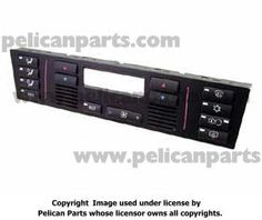 IHKA Panel w/ buttons  Pelican Parts - Product Information: 64-11-8-375-645-M9