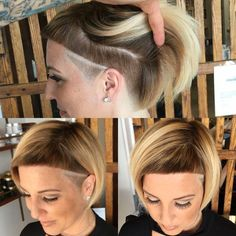 Short Hair Undercut, Undercut Hairstyles, Mommy Hairstyles, Cool Hairstyles, Crazy Hair Cuts, Medium Hair Styles, Short Hair Styles, Stacked Hair, Hair Color And Cut