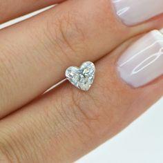 Heart Shape Natural Enhanced Loose Diamond One Carat F VS2 Certified For Ring #MyDiamonds