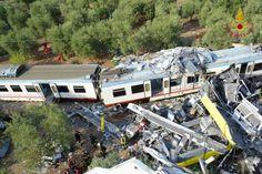 Tragedia in Puglia a causa dello scontro tra due treni della Ferrotranviaria tra Corato e Andria, nella campagna barese in Puglia.