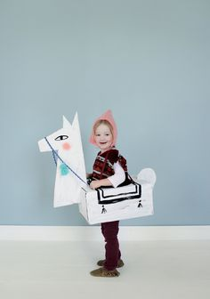 This llama Halloween costume is the sweetest thing I've ever seen, from Mer Mag. And it's made of cardboard (which you'll see if a fairly popular costume supply in this roundup).