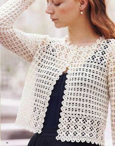 New Woman's Crochet Patterns Part 26 - Beautiful Crochet Patterns and Knitting Patterns Pull Crochet, Gilet Crochet, Crochet Jacket, Thread Crochet, Crochet Shawl, Crochet Shrugs, Crochet Sweaters, Crochet Baby, Free Crochet