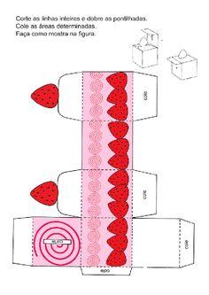 Diy Arts And Crafts, Paper Crafts, Hello Kitty Crafts, Anime Crafts, Kawaii Crafts, Paper Box Template, Printable Box, Christmas Card Crafts, Diy Gift Box