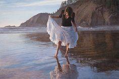 Reflecting On Indian Beach - Steve Hanks - World-Wide-Art.com