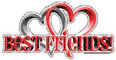 Best Friends With Glitter Hearts | DesiGlitters.com