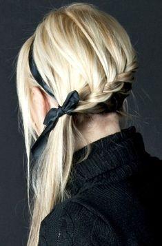 2013 - 2014 Waterfall Braid Hairstyle for Blonde Hair