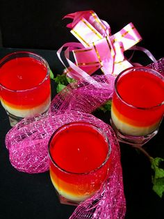 Raspberry and Mango layered Jelly with Vanilla Flavored China grass Pudding Raspberry and Mango layered Jelly with Vanilla Flavored China grass Pudding is very easy to make fun recipe, but this needs good planning and execution. It needs your good time and efforts. #indianrecipes #indianfood #vegetarianrecipe #recipe #chinagrass #agar-agar #pudding Mango Jelly, Dessert Shooters, Sweets Recipes, Indian Food Recipes, Vegetarian Recipes, Vanilla Flavoring, Agar, Indian Sweets, Grass