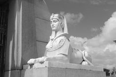 Sphinx guarding the Brunswig Monument in Metairie Cemetary | New Orleans, Louisiana.