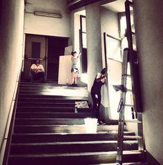 Beautiful cleaning ladies at Vecchio Ospedale @festivalcortona