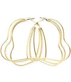 8b2646ea3 Soap Opera Jewelry has Carly Jax's Goldtone Multi-Hoop Heart Earrings from  General Hospital!