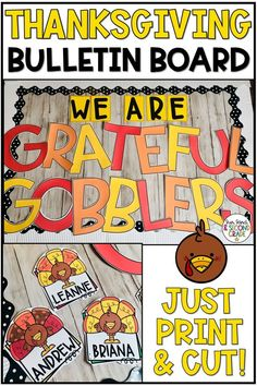 october bulletin boards Are you looking for an easy to prep and adorable Thanksgiving bulletin board or door decor? This fun, turkey themed bulletin board set has everything yo November Bulletin Boards, Holiday Bulletin Boards, Thanksgiving Bulletin Boards, Interactive Bulletin Boards, Halloween Bulletin Boards, Bulletin Board Letters, Preschool Bulletin Boards, Classroom Bulletin Boards, Autism Classroom