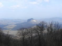 Mirror Dome in Blue Ridge Mountains near Flat Rock, North Carolina. ~~ 4/6/2001