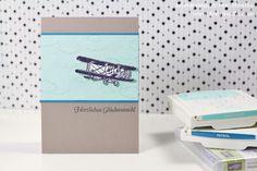Glückwunschkarte selbstgemacht Sale a Bration SaB Stampin' Up! 2016 Flugzeug Hoch hinaus Wolken Clean simple Propeller Segelflieger männlich maskulin