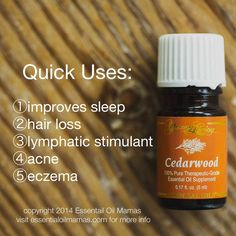 Uses for Cedarwood, Young Living, Young Living Essential Oils, YLEO, sleep, insomnia, hair loss, acne, eczema